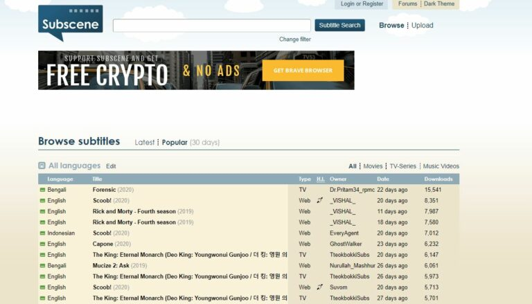 Tempat Unduh Subtitle Download Indonesia Khusus Drama dan Film