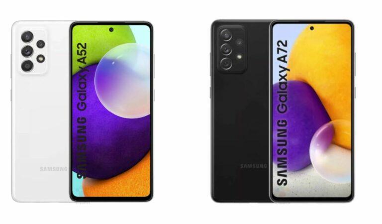 HP Samsung Terbaru, Samsung Galaxy A52 dan A72
