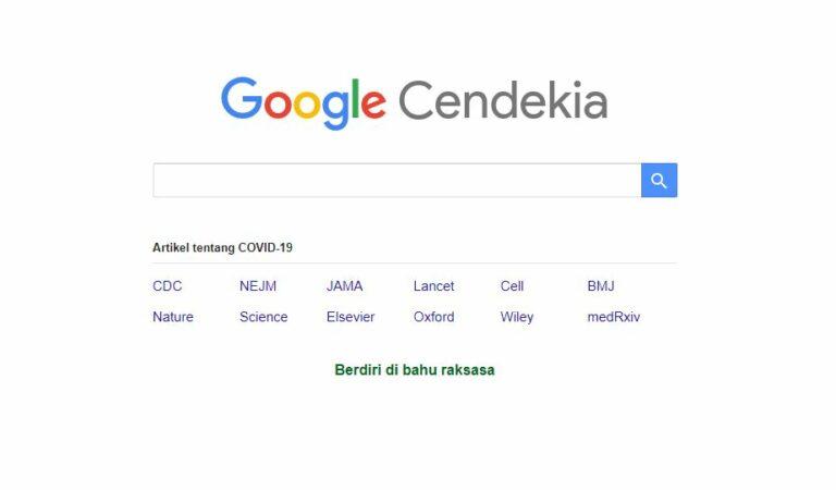 Mencari Referensi Mudah Melalui Google Cendekia